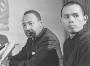 In the 1960s  this Buddhist Monk from Vietnam, Thich Nhat Hanh, persuaded MLK to publicly oppose the Vietnam War.