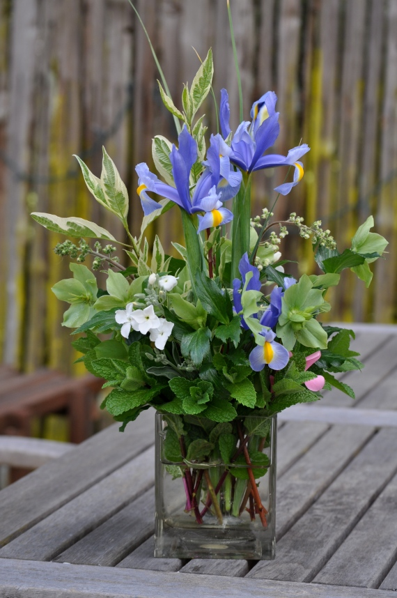 Bouquet from our garden, made yesterday to honor the fallen young.