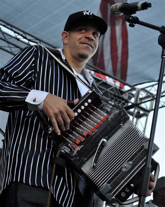 Andre Thierry plays with his band Zydeco Magic