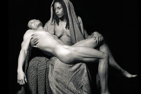 "DVD Cover: ""Yo Mama's Pieta, 1996"" by Renee Cox from the Author's collection"