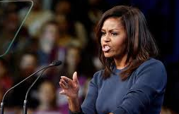 Oct.13, 2016 Michelle Obama at New Hampshire rally for Hillary Clinton.
